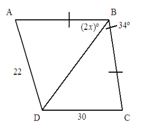 What is the range of possible values for x?